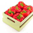 Wooden crate with vegetables — Stockfoto