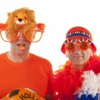 Dutch soccer supporters — Foto Stock