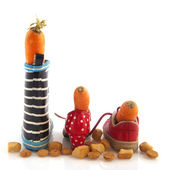 Sinterklaas carrots and shoes — Stock Photo