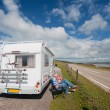 Traveling by mobil home — Stock Photo