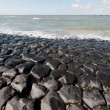 Dutch sea dike - Stock Photo