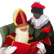 Sinterklaas and black Piet — Stock Photo