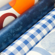 Table cloths at market — Stock Photo #3892620