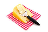 Cheese with Dutch slicer — Stock Photo