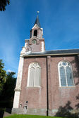 Typical Dutch church tower — Stock Photo