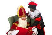Sinterklaas and black Piet — Stock Photo