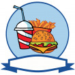 Cartoon Hamburger Drink And French Fries — Stock Photo