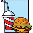 Cheeseburger With Drink — Stock Photo