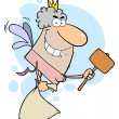 Tooth Fairy With A Mallet And Bag — Stock Photo #2699720