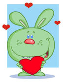 Sweet Green Bunny — Stock Photo
