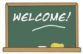 Welcome Chalkboard — Stock Photo