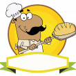 Logo Mascot-Hispanic Bread Baker Man — Stock Photo