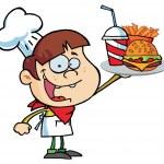 Caucasian Burger Boy — Stock Photo