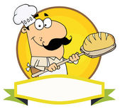 Cartoon Logo Mascot-Bread Baker Man — Stock Photo