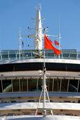 Ponte de navio de cruzeiro de luxo — Foto Stock