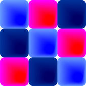 Pattern of blue and pink tiles — Stock Vector