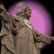 Statue of Christ with fake aureole — Stock Photo #3002224