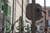 Wrought iron fence — Stock Photo