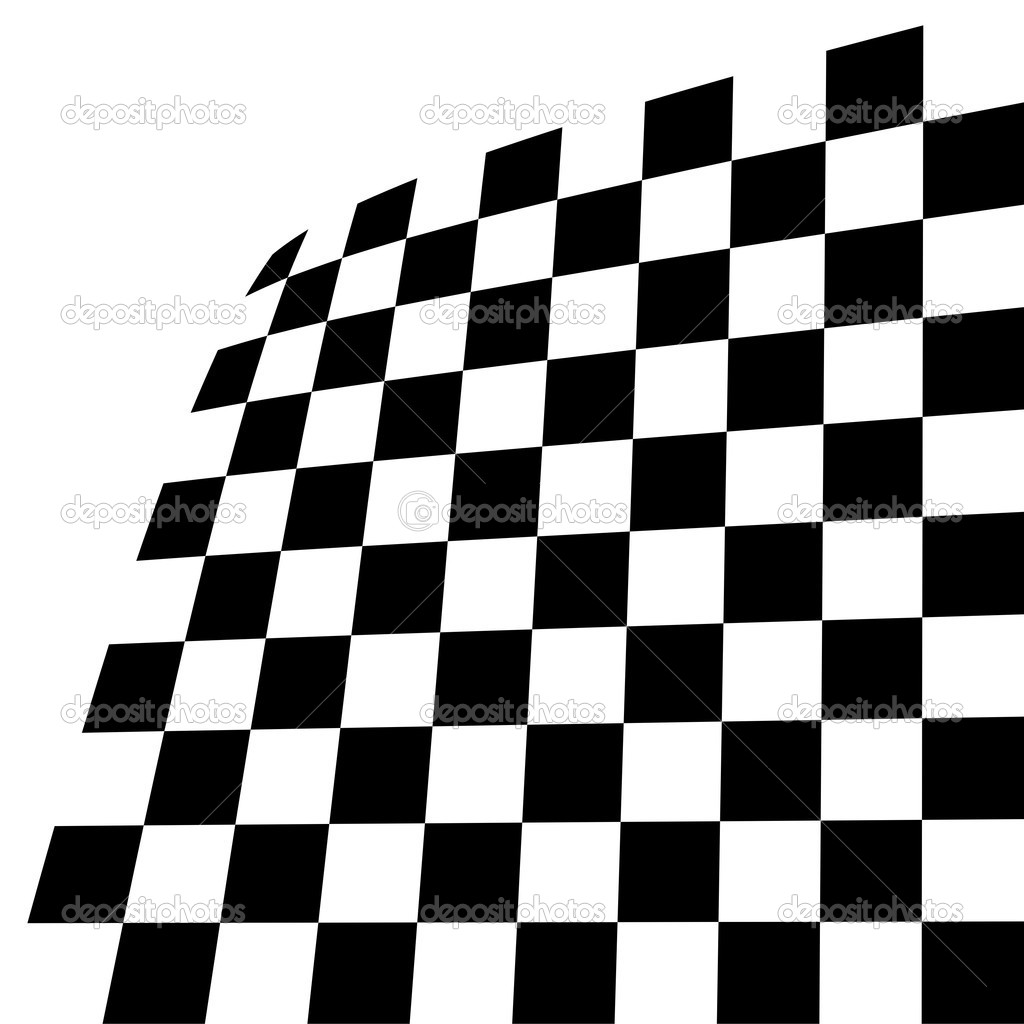 Black and white tile, tilting, vector image — Stock Vector #3409984