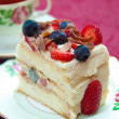 Berry Sponge Cake — Stock Photo