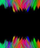 Vibrant scribble edge over black — Stock Photo