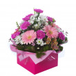 Stock Photo: Pink Boxed Flower Arangement
