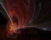 Red Swirls — Stock Photo