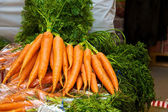 Red sweet carrots — Stock Photo