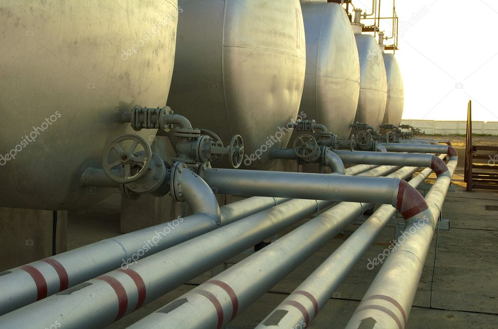 Pipes for the pumping oil — Stock Photo #2836215