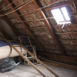 Vintage attic - Stock Photo