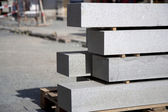 Construction site - granite blocks — Stock Photo