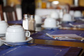Breakfast place setting — Stock Photo