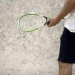 Playing squash — Stock Photo