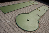 Minigolf tracks — Stock Photo
