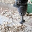 Using machines in joinery — Stock Photo
