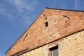 Old house gable — Stock Photo