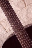 Black guitar — Stock Photo