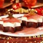 Christmas ice cream — Stock Photo
