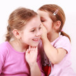 Kids whispering - Foto Stock
