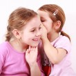 Kids whispering — Stock Photo