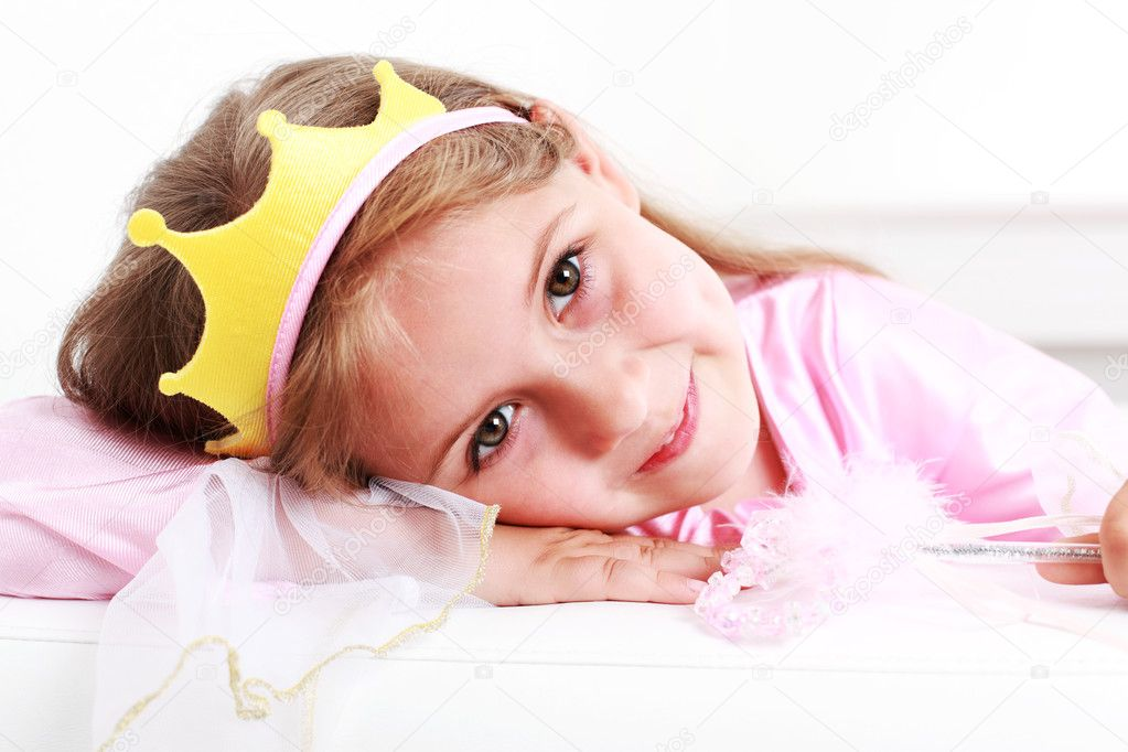 Beautiful small girl dressed as princess   #3271717