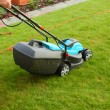 Gardening - cutting the grass — Stock Photo