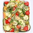 Baked mixed vegetable - Stok fotoğraf