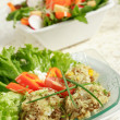 Stock Photo: Healthy food - rice and vegetable salads