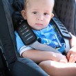 Baby in car seat - Stockfoto