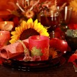 Place setting for Thanksgiving — Stock Photo #3584603