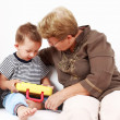 Royalty-Free Stock Photo: Playing with granny