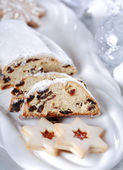 Christmas cake and cookies — Стоковое фото