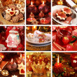 Merry Christmas collage — Foto Stock