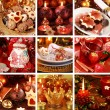 Merry Christmas collage - Foto Stock